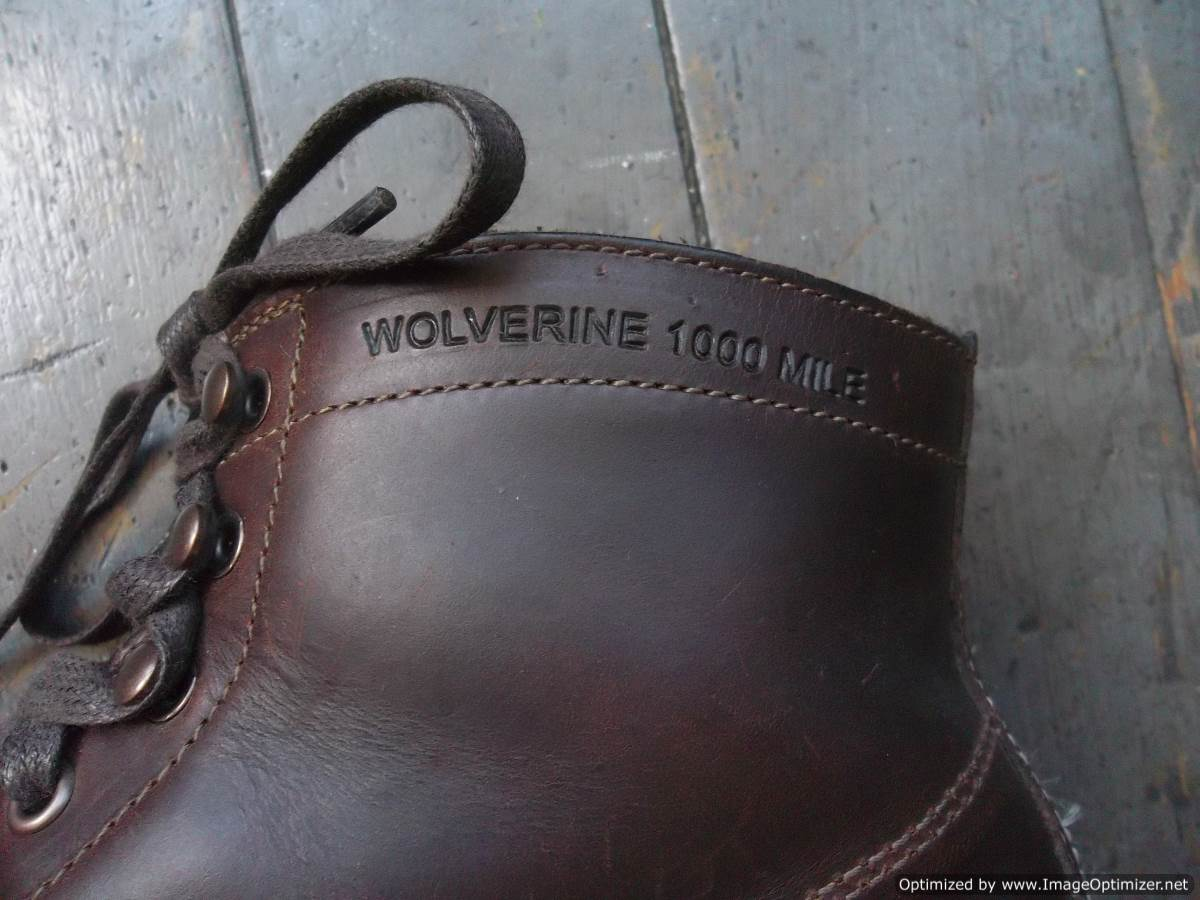 Wolverine 1000 Mile Boots in Rust - 11d - made in USA | The