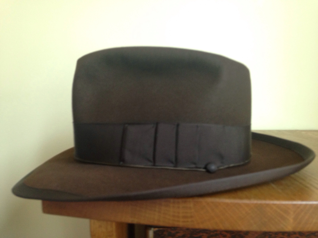 6a88ff486ad589 WTB: 7 1/2 Royal Stetson Whippet or Stratoliner-like hat in Dark ...