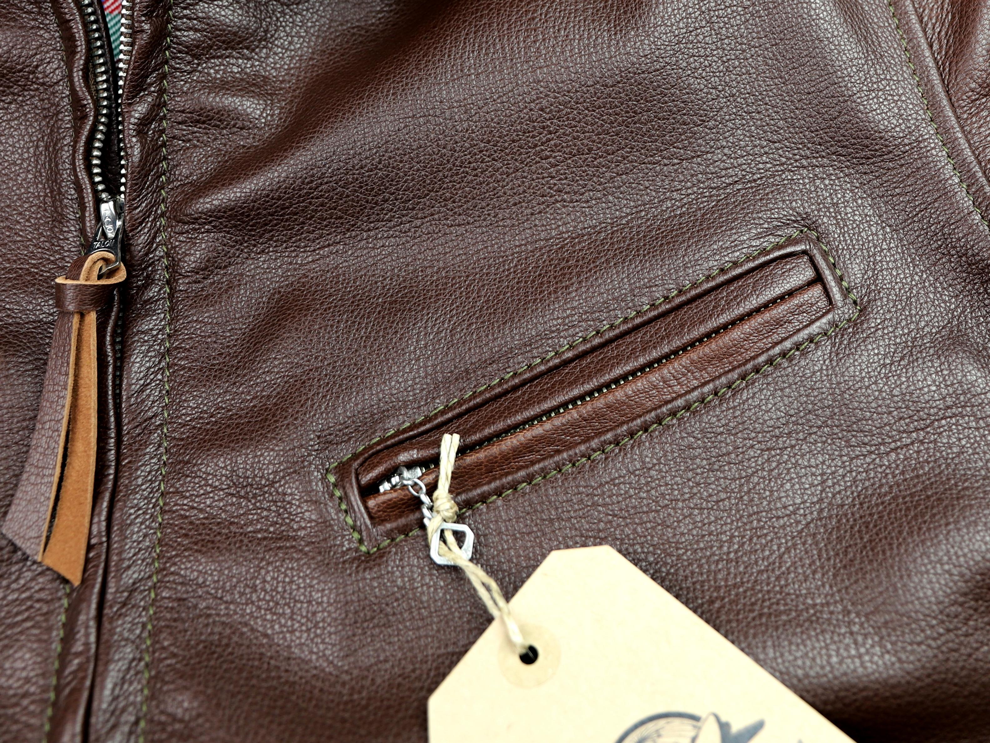Aero 1950s Half Belt Russet Goatskin chest pocket.jpg