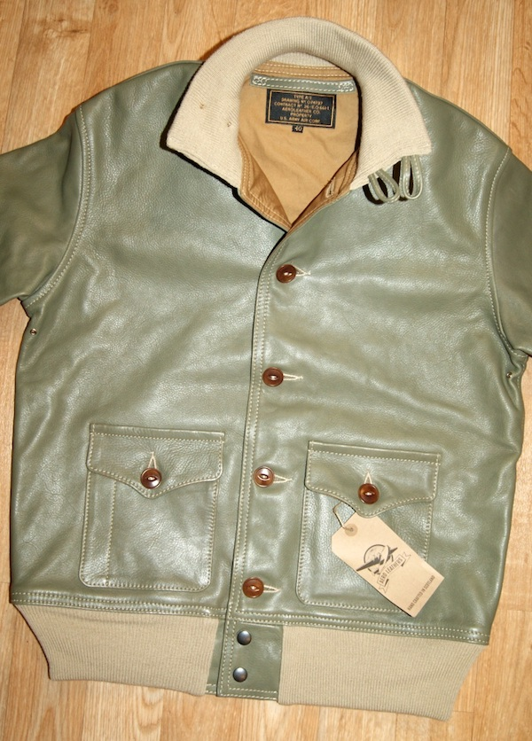 Aero A-1 Olive Vicenza Horsehide YQ9 front.jpg