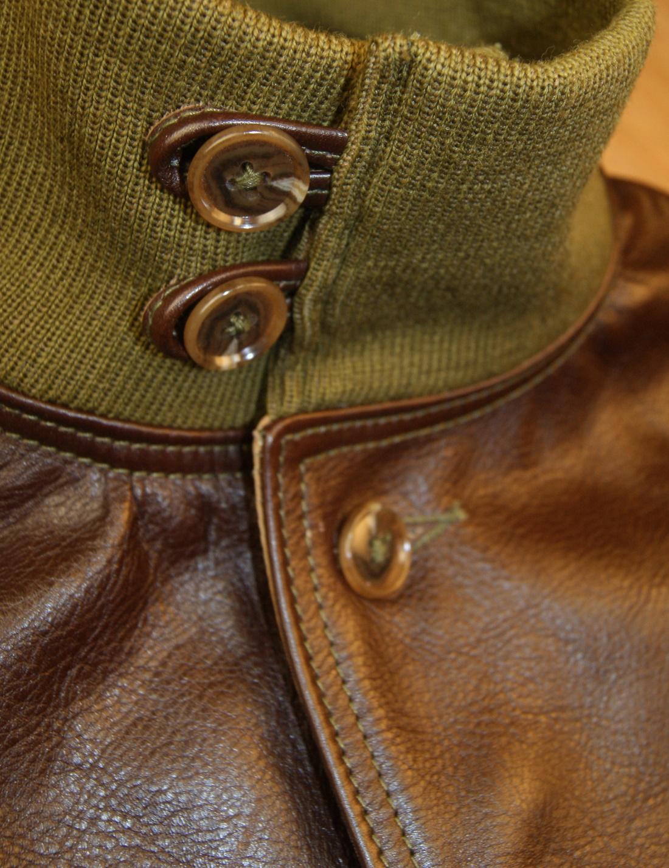 Aero A-1 Seal Vicenza Horsehide 5NK buttons on collar.jpg