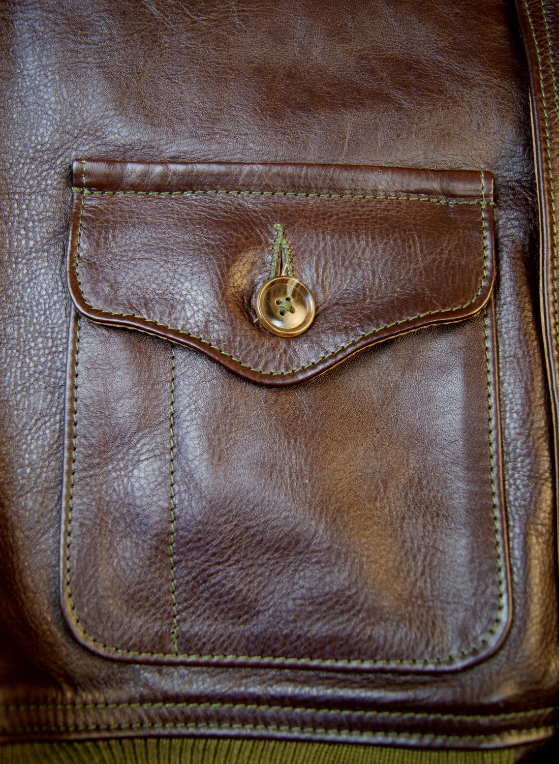 Aero A-1 Seal Vicenza Horsehide 5NK patch pocket.jpg