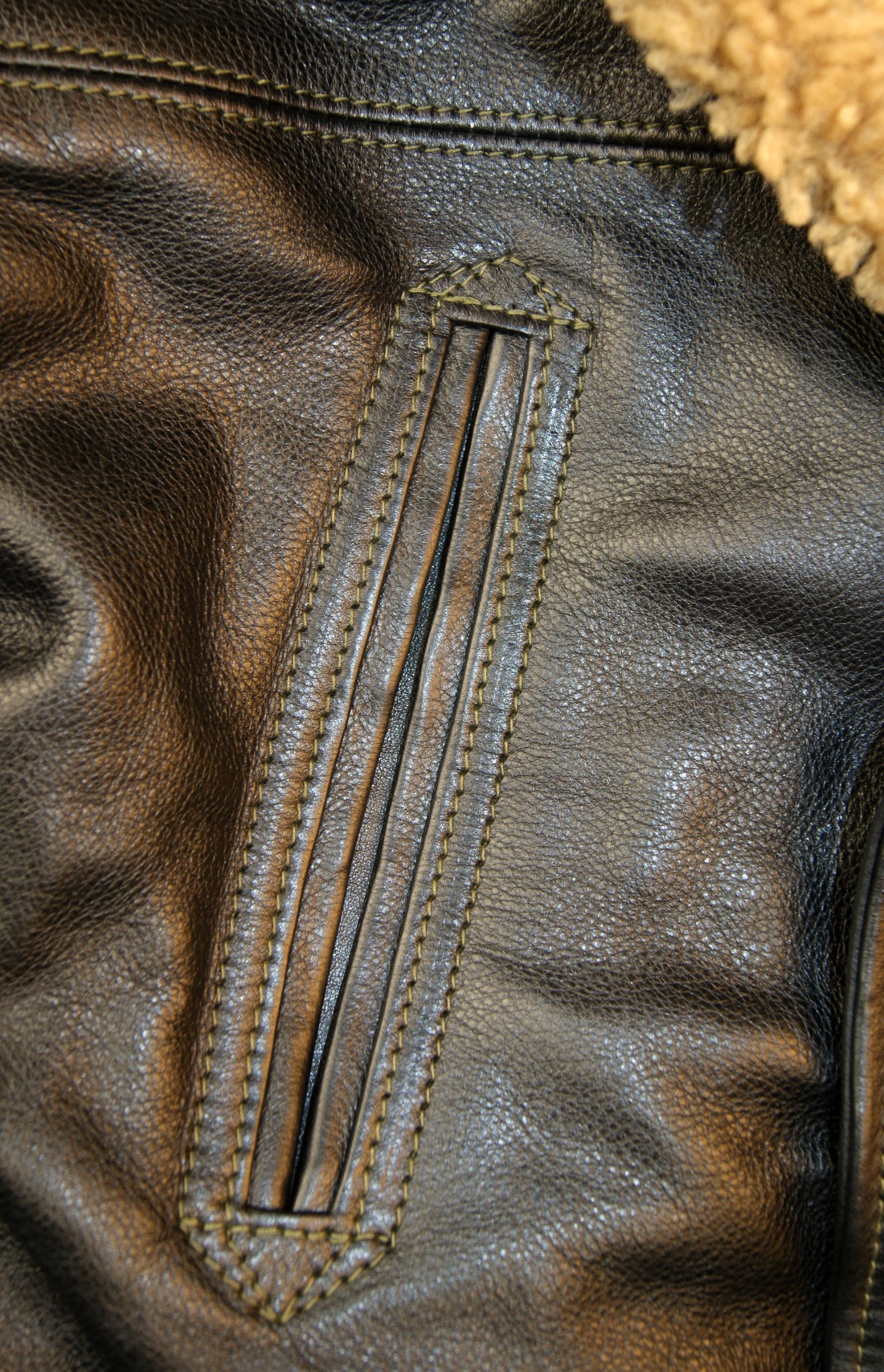 Aero Blizzard Black Vicenza Horsehide chest pocket.jpg
