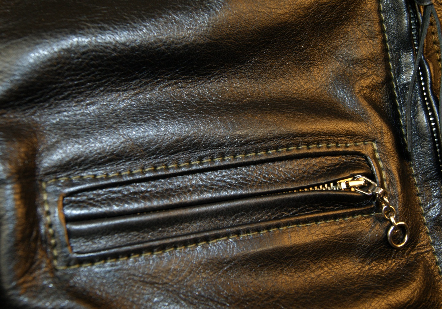 Aero Board Racer Black Vicenza Horsehide DB2 chest pocket.jpg