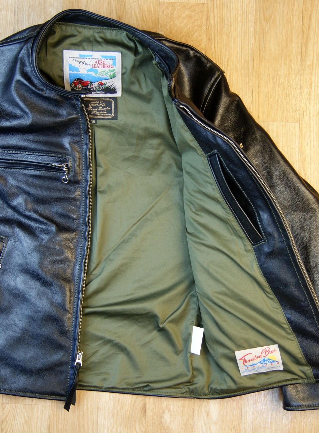 Aero Board Racer Black Vicenza Horsehide DB2 olive cotton sateen lining.jpg