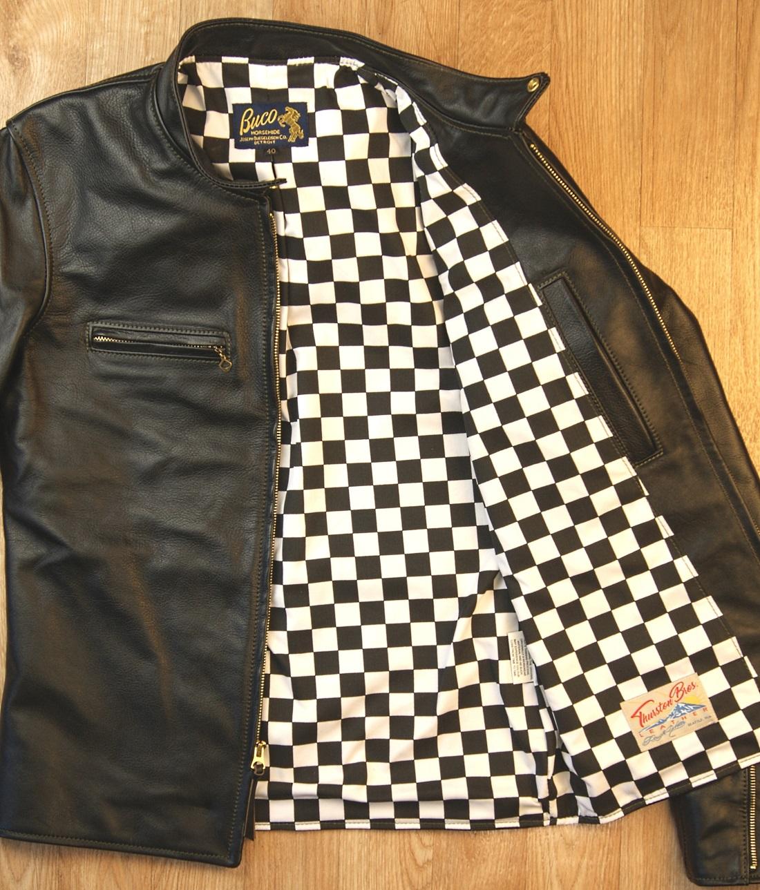 Aero Board Racer Blackened Brown Vicenza Horsehide ABD checkered cotton lining.jpg