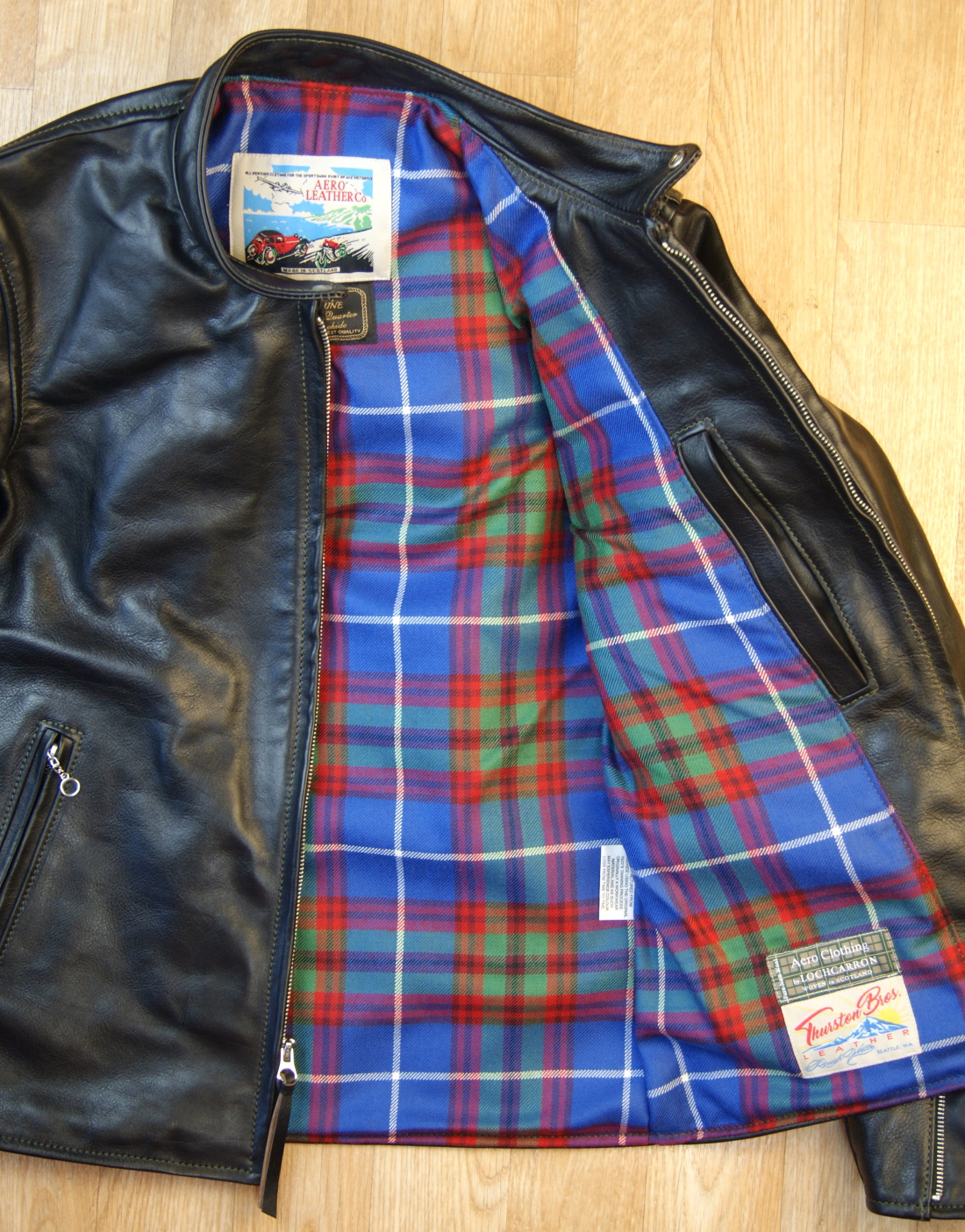 Aero Board Racer Blackened Brown Vicenza Horsehide ZSL Edinburgh tartan lining.jpg