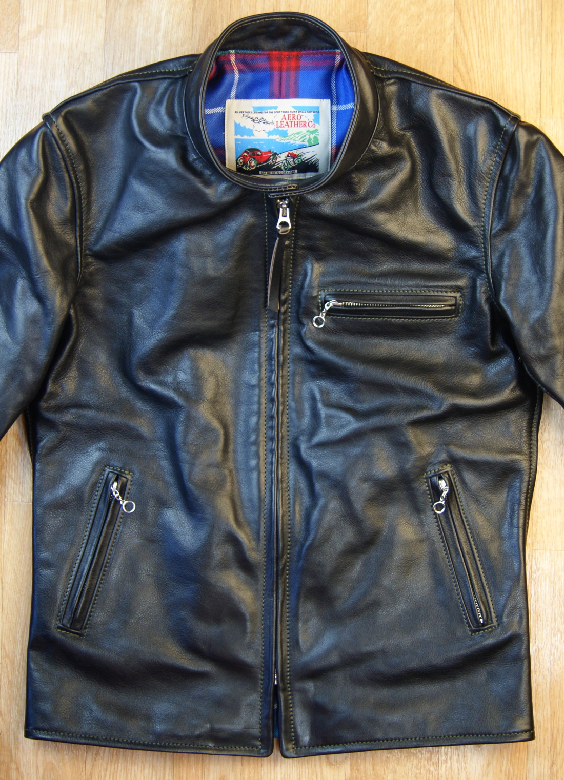 Aero Board Racer Blackened Brown Vicenza Horsehide ZSL front.jpg