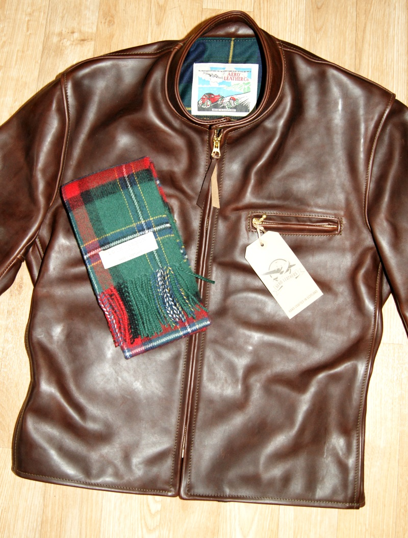 Aero Cafe Racer Brown CXL FQHH F9J front with scarf.jpg
