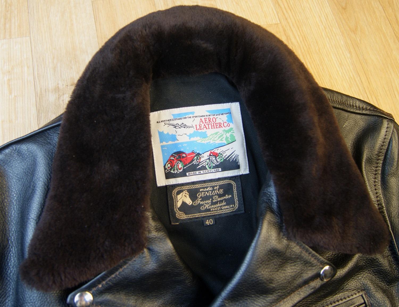 Aero Daytona Ridley Blackened Brown Vicenza Dark Brown fur collar tag.jpg