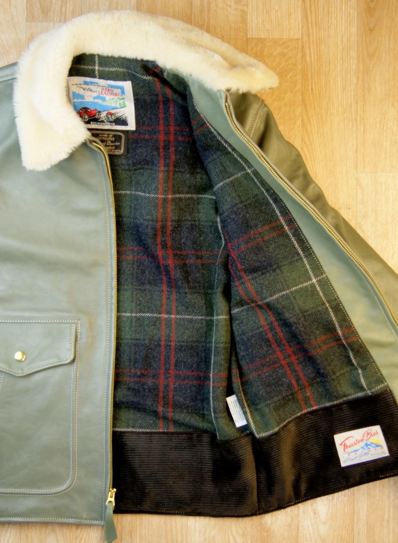 Aero Half Belt Deluxe Olive Vicenza Horsehide Blonde Fur collar Patriot Talla Waverly Tweed.jpg