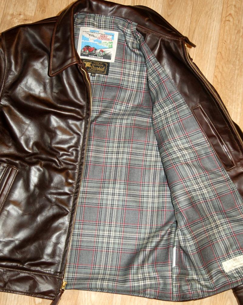 Aero Highwayman Brown CXL Steerhide S4 Plockton Check Tweed wool lining.jpg