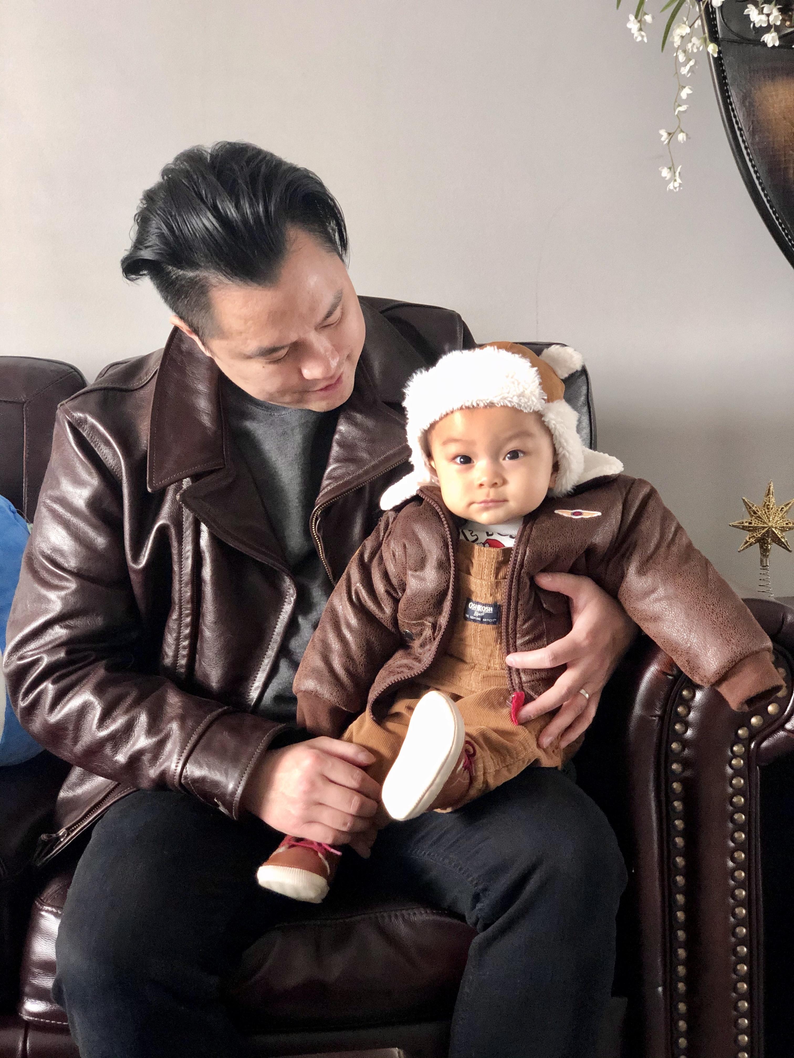 Aero Hooch Hauler customer with baby.jpg