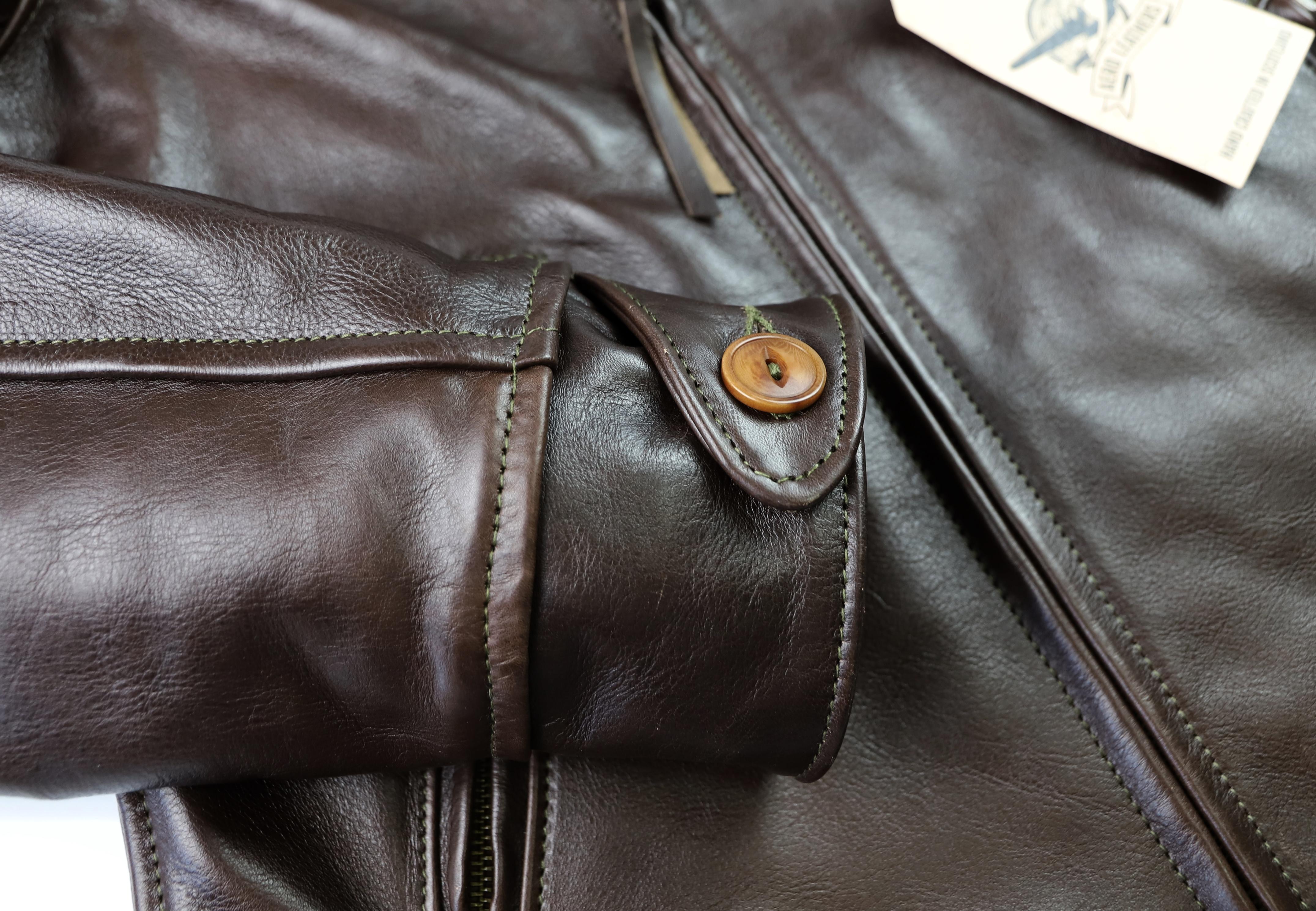 Aero Hooch Hauler Dark Seal Vicenza Horsehide ALW1 button cuff.jpg