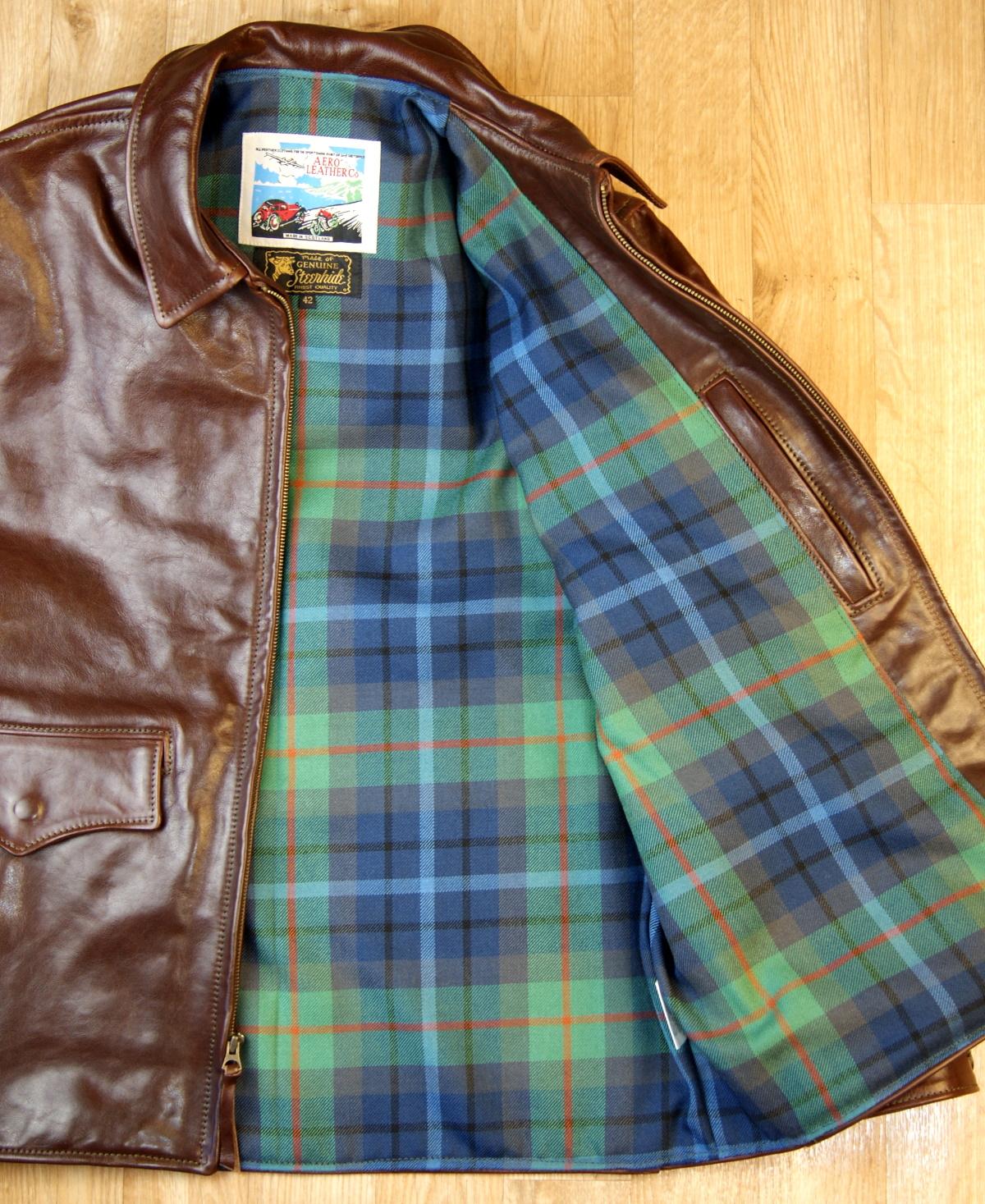 Aero Long Half Belt Tobacco Badalassi New York City tartan medium lining.jpg