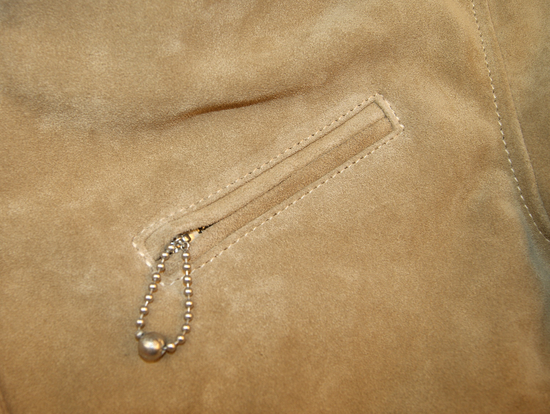 Aero Majestic Light Tan Suede chest pocket.jpg