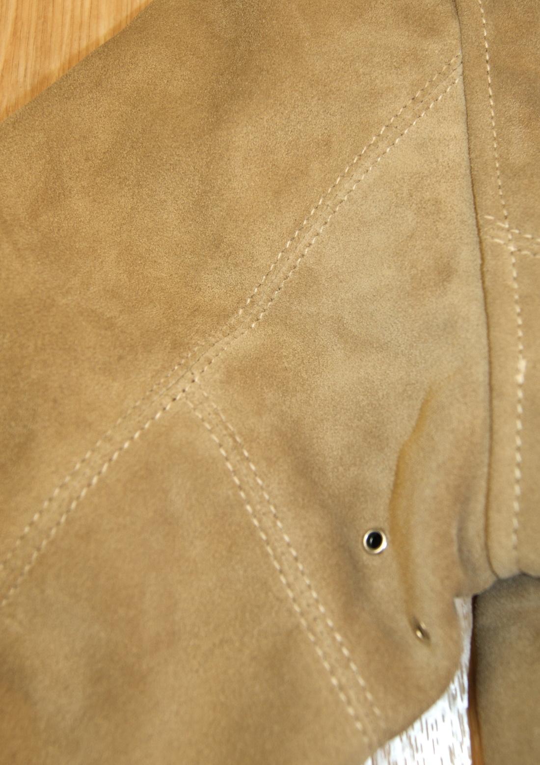 Aero Majestic Light Tan Suede sleeve stitching.jpg