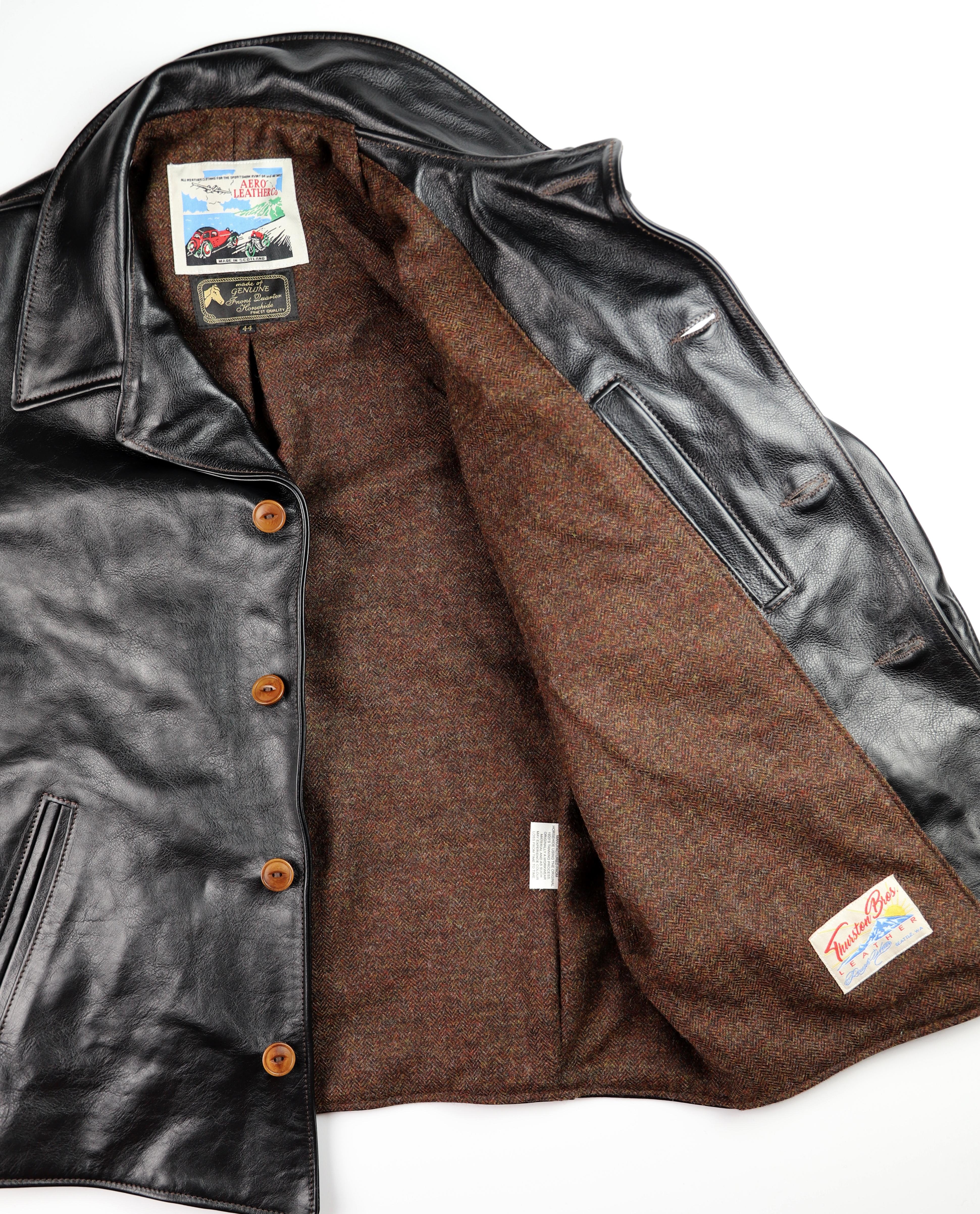 Aero Maxwell Blackened Brown Vicenza Brown Herringbone Tweed lining.jpg