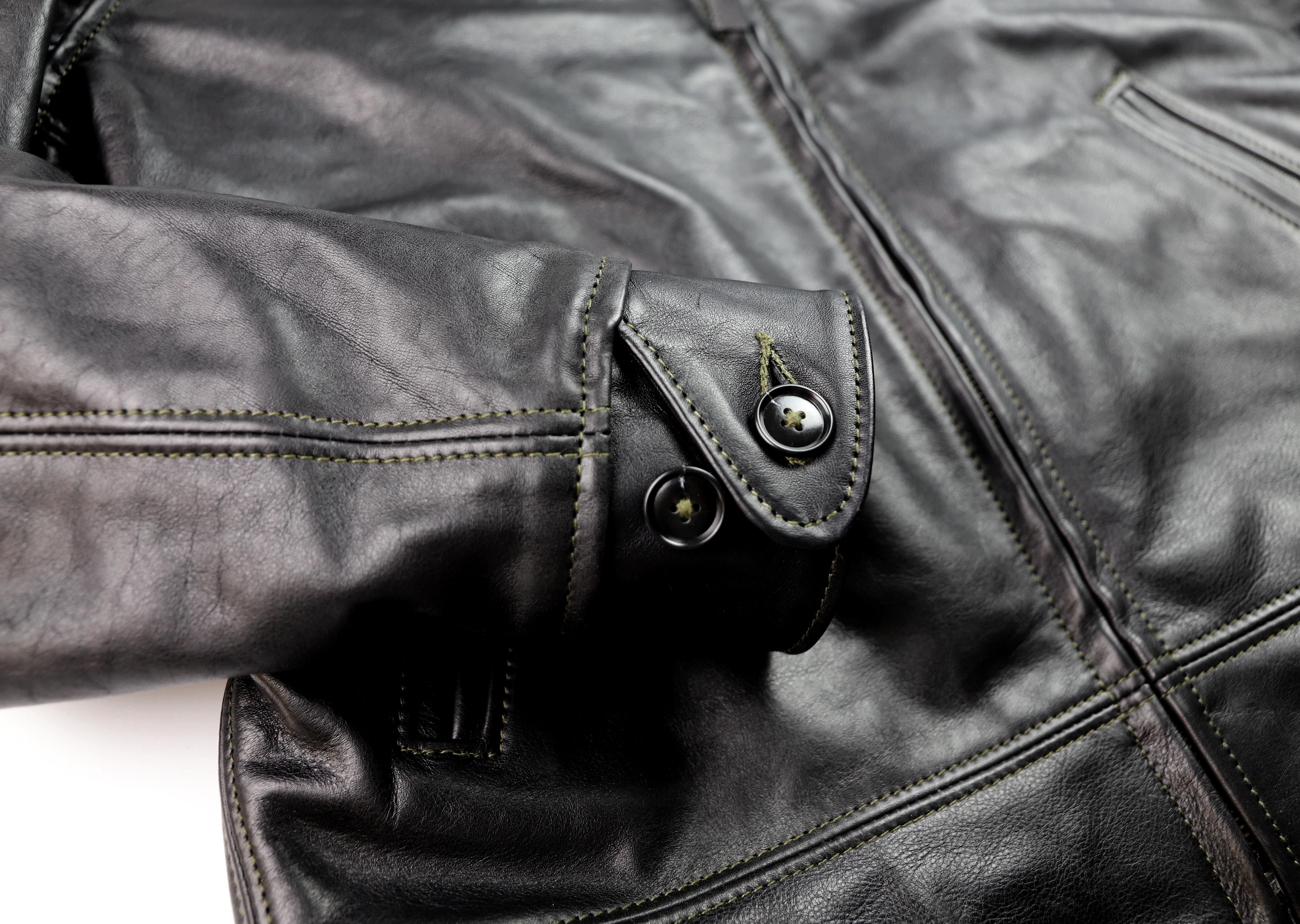 Aero Original Hercules Black Vicenza Horsehide BWL6 button cuff.jpg