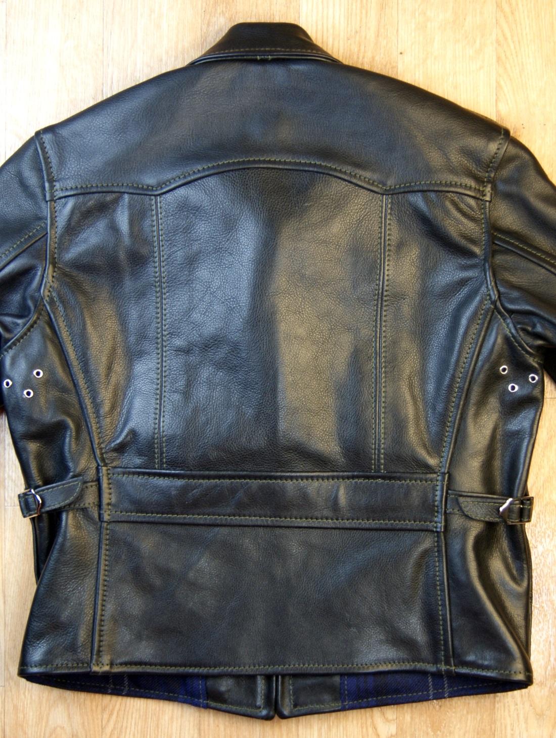 Aero Premier 1930s Half Belt Dustbowl back Black Vicenza Horsehide back smaller.jpg