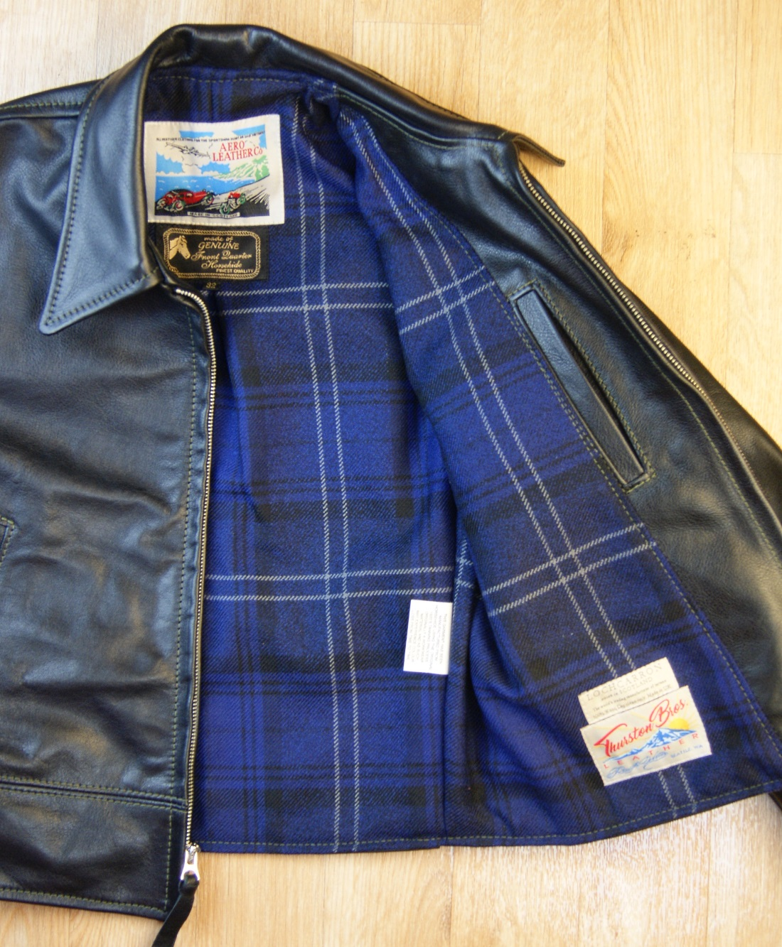 Aero Premier Half Belt Dustbowl Black VicenzaNavy Highland Granite heavy tartan smaller.jpg