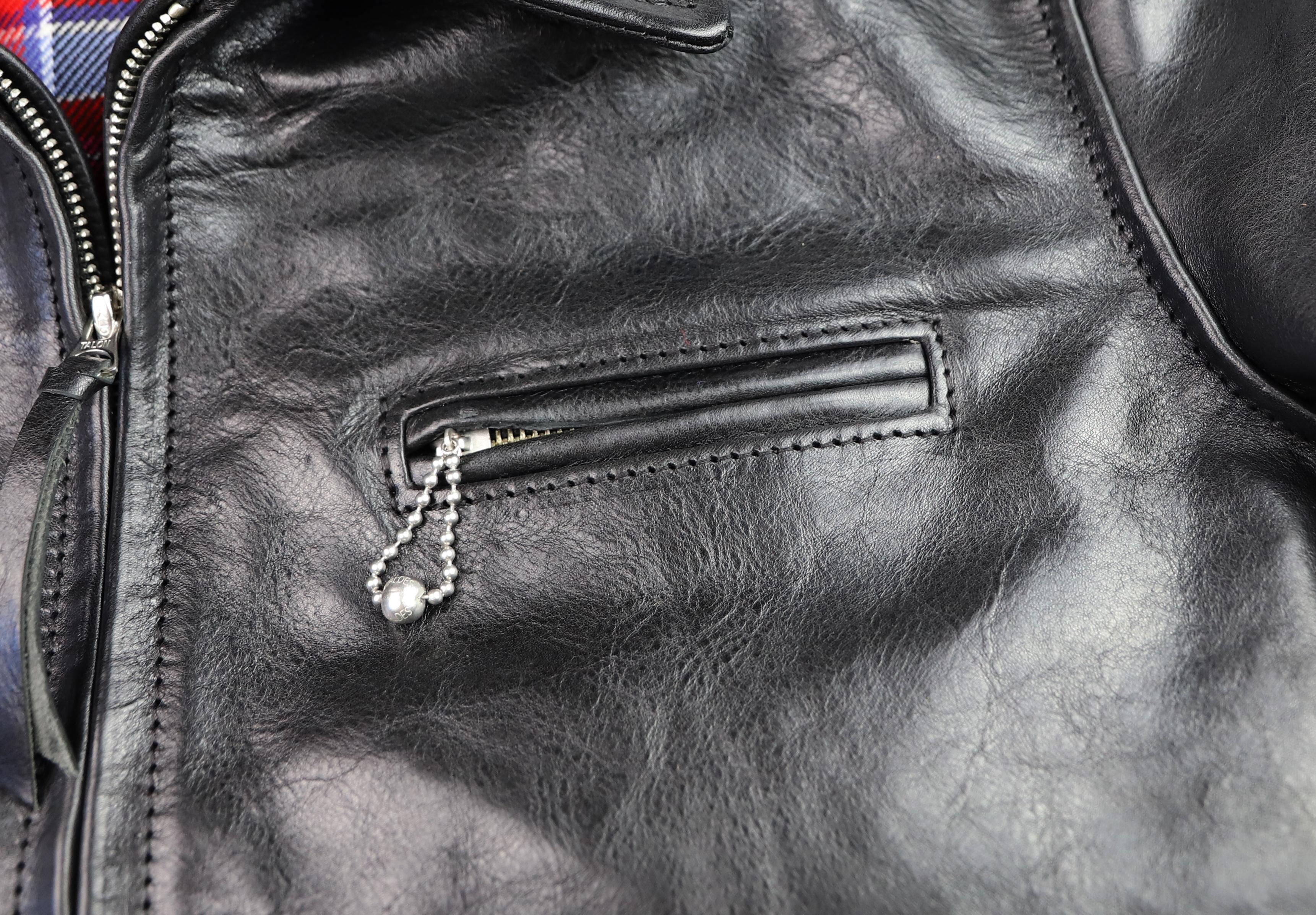 Aero Premier Highwayman Black Badalassi Cowhide BG49 chest pocket.jpg
