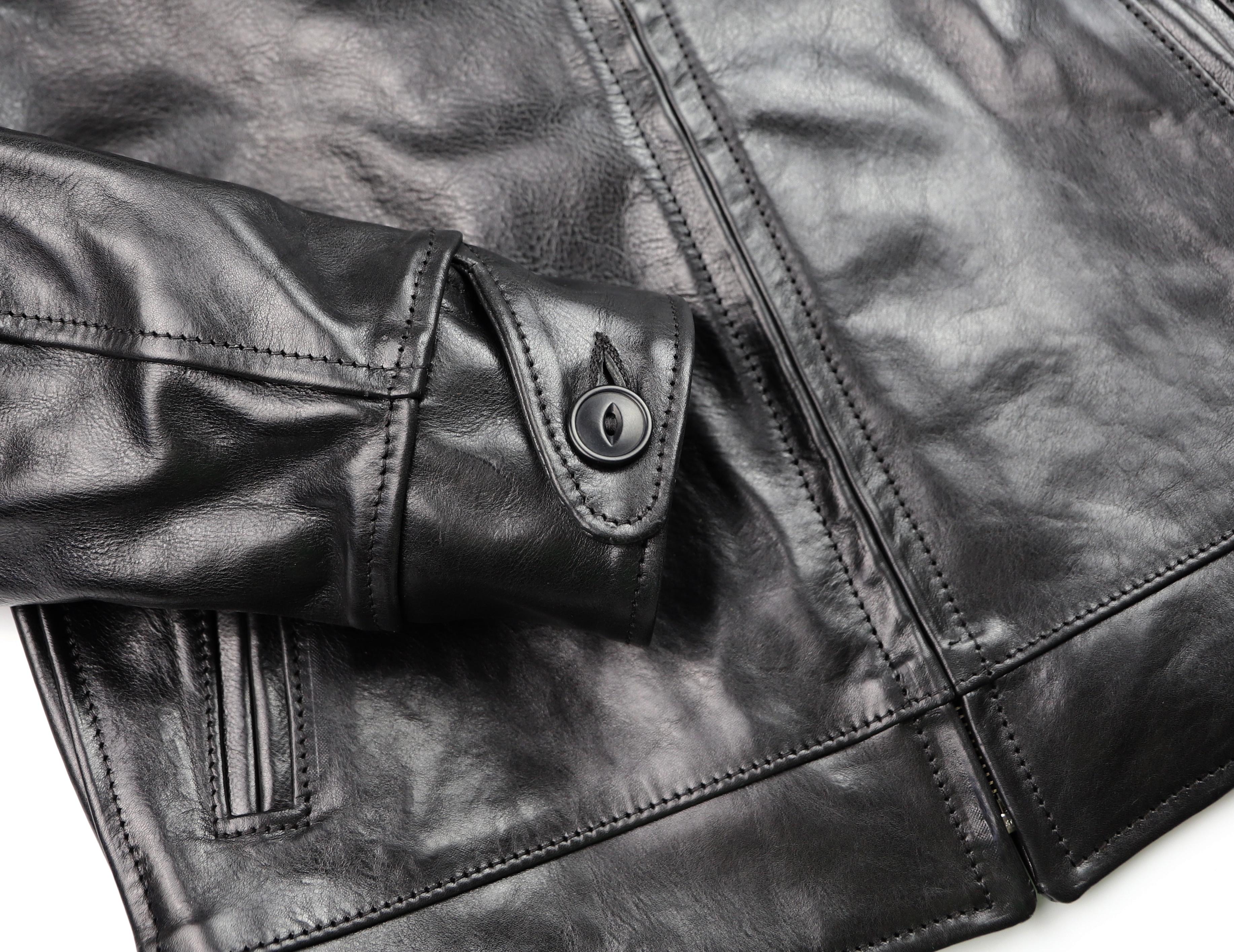 Aero Premier Highwayman Black Badalassi Cowhide button cuff.jpg