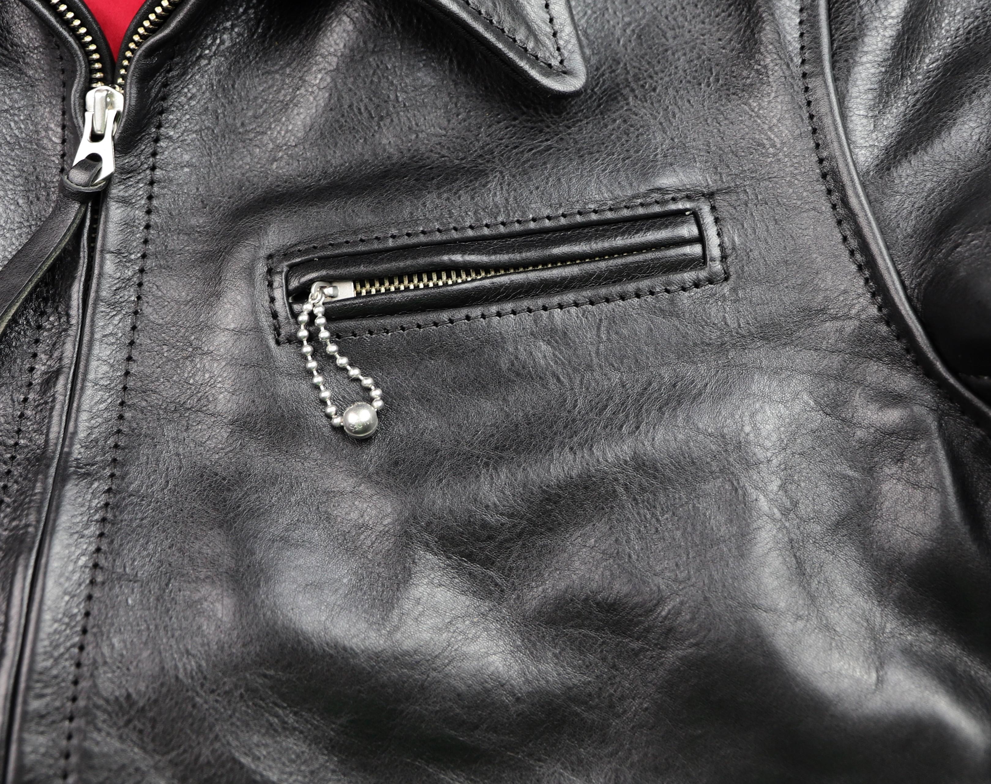 Aero Premier Highwayman Black Badalassi Cowhide chest pocket.jpg