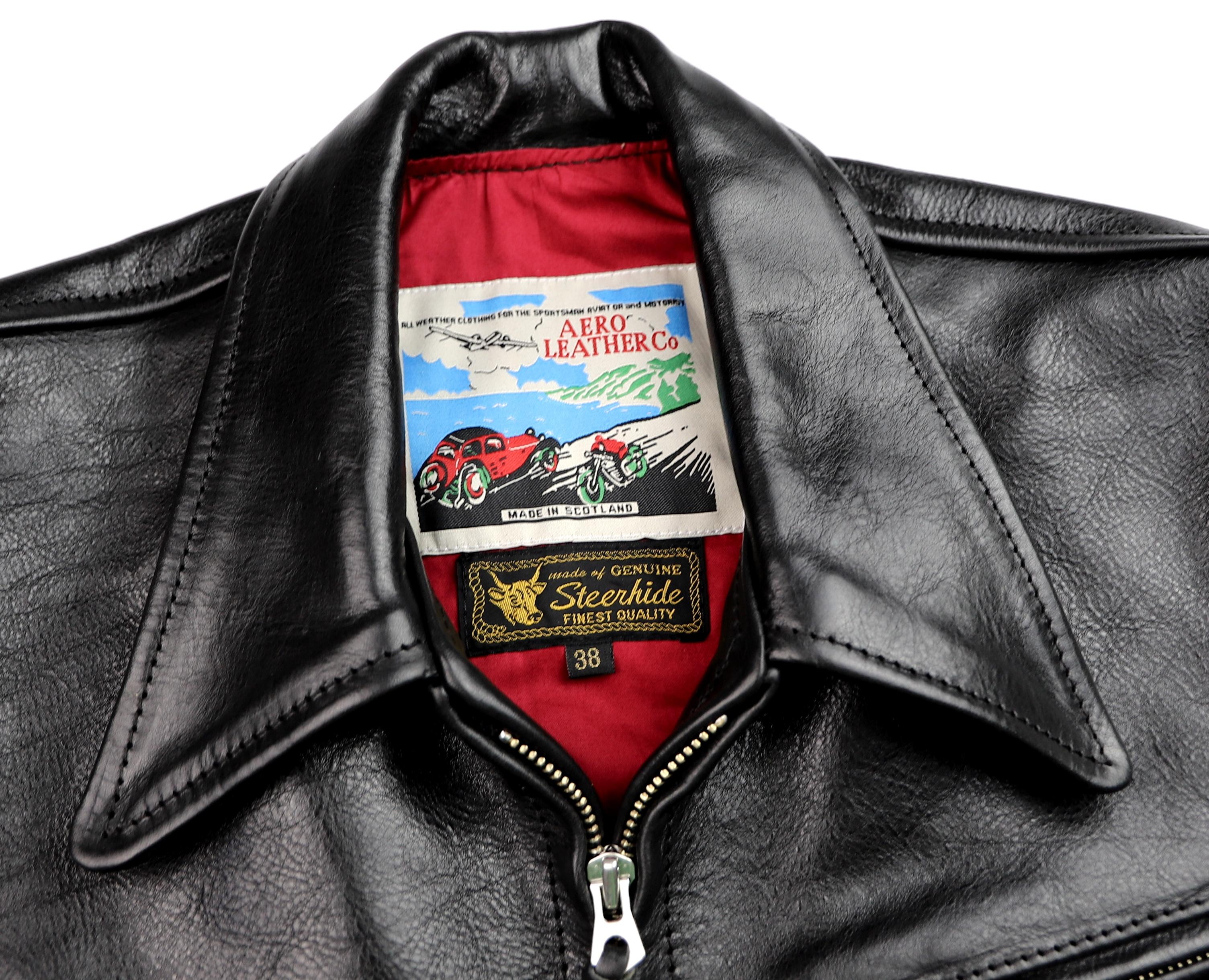 Aero Premier Highwayman Black Badalassi Cowhide tag.jpg