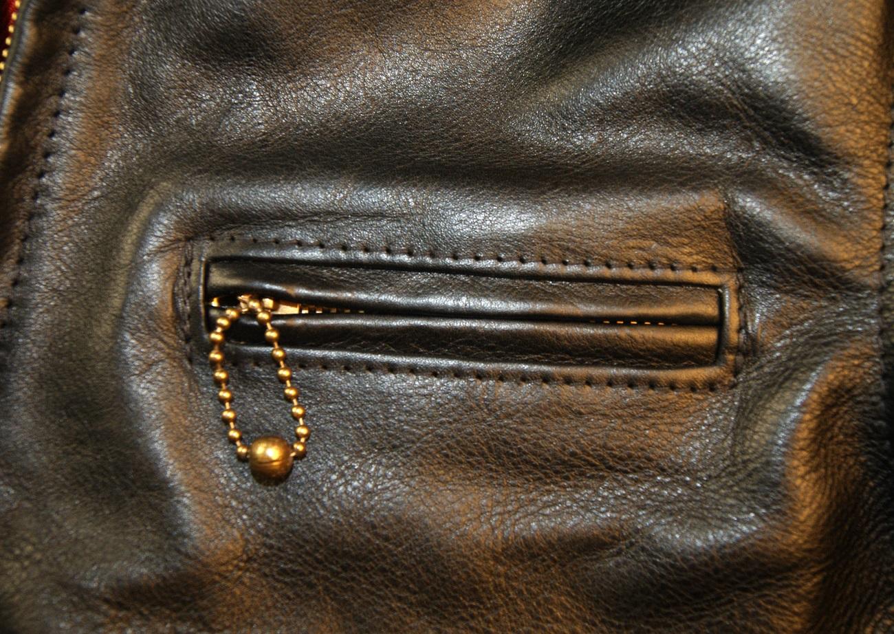 Aero Premier Highwayman Black Vicenza Horsehide CC6 chest pocket.jpg