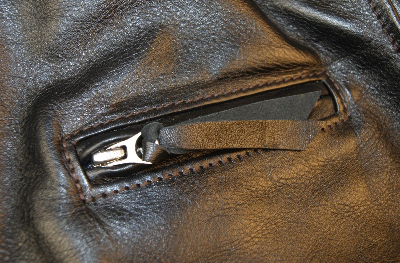 Aero Premier Highwayman Black Vicenza Irvin fur collar chest pocket.jpg