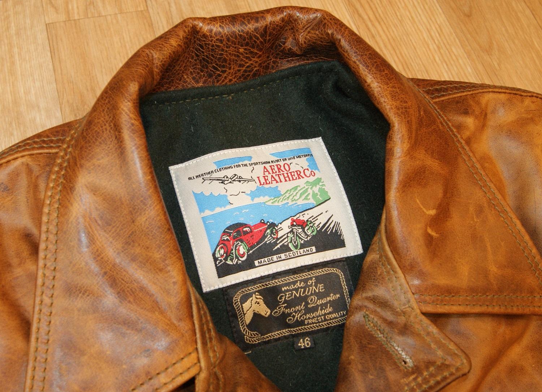 Aero Premier Work Coat Battered Tan tag.jpg
