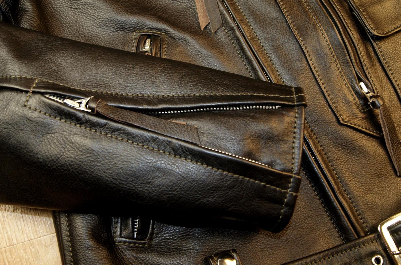 Aero Ridley Blackened Brown Vicenza Horsehide YC6 sleeve zip.jpg