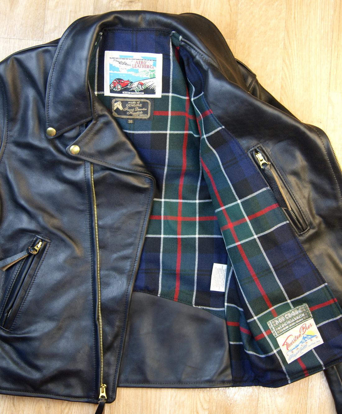 Aero Ridley Tumbled Black CXL FQHH XTN Colquhoun Modern tartan lining.jpg