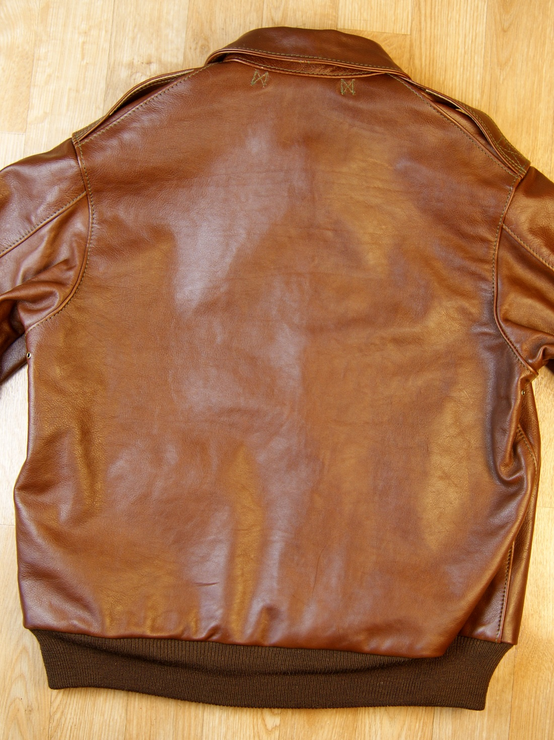 Aero Unknown Maker Russet Vicenza Horsehide KM7 back.jpg