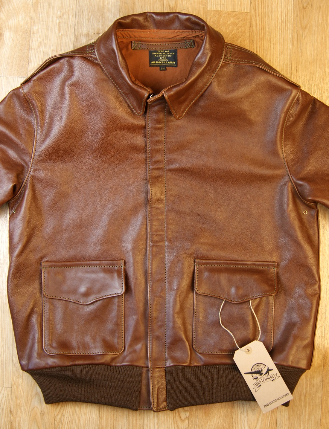 Aero Unknown Maker Russet Vicenza Horsehide KM7 front.jpg