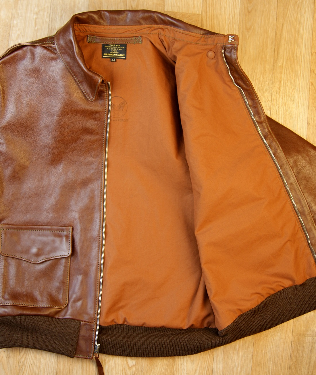 Aero Unknown Maker Russet Vicenza Horsehide KM7 open Rust lining.jpg