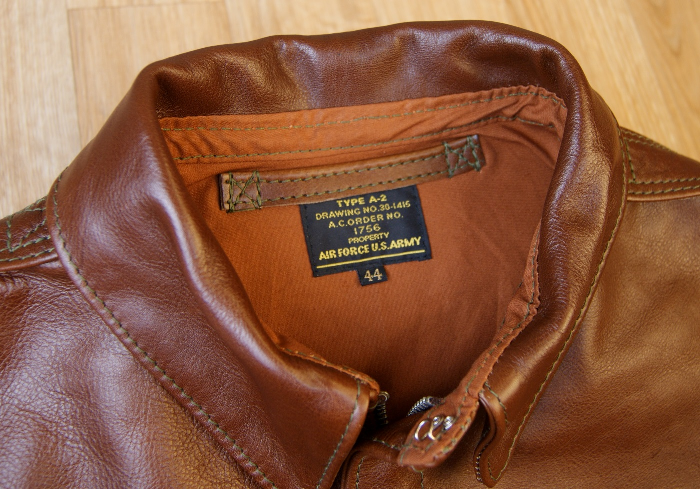 Aero Unknown Maker Russet Vicenza Horsehide KM7 tag.jpg