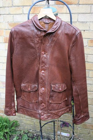 For Sale Rare 2008 Lvc Menlo Cossack Jacket Goatskin Size 44 The Fedora Lounge