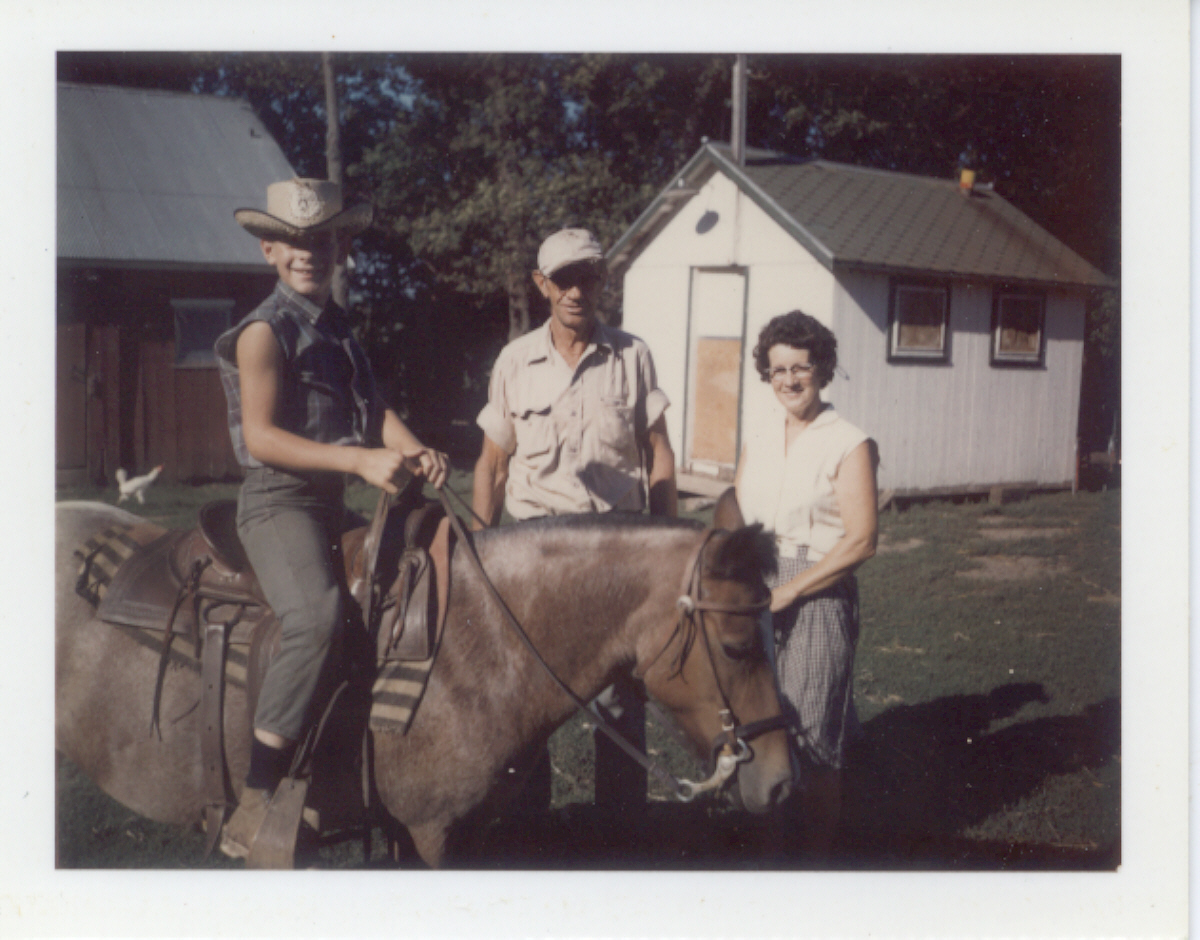 fam, Sunderman-Horses  Dad, Mom, me and Stormy.jpg