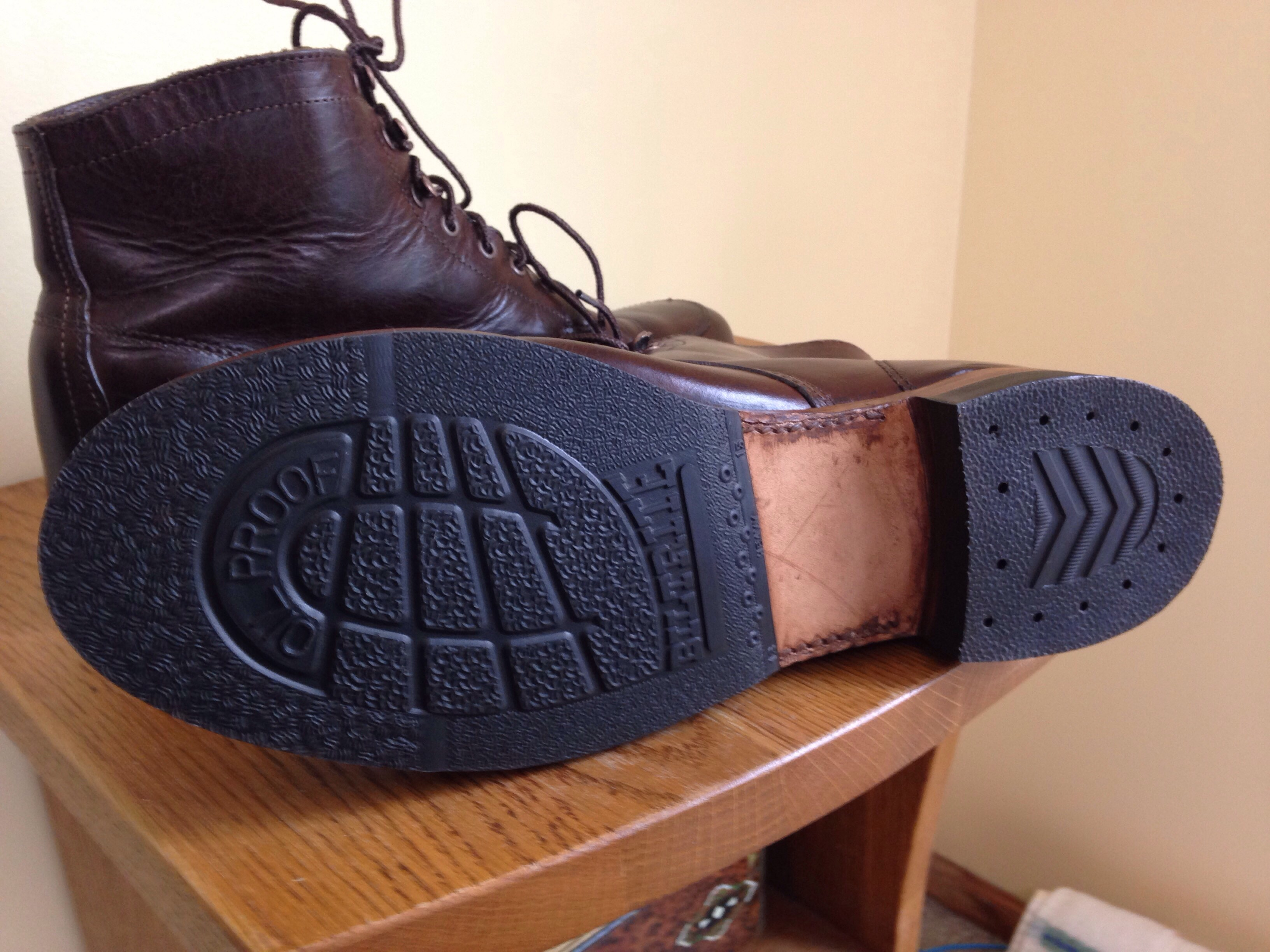Wolverine 1000 Mile Boots Resole Recomendations The