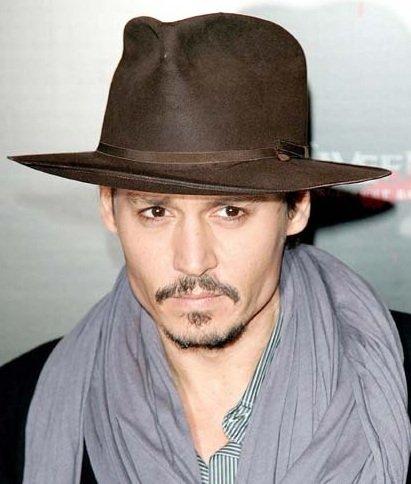 Johnny Depp s brown fedora  c7e91d6c808