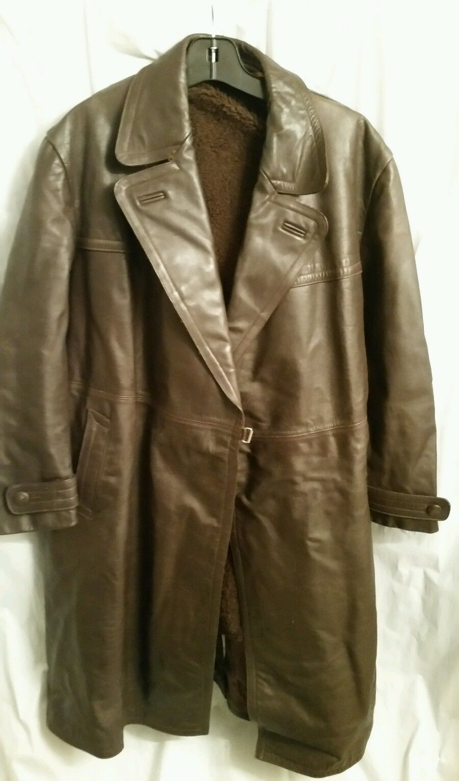 1950's German (probably Teichert) brown leather trench coat | The