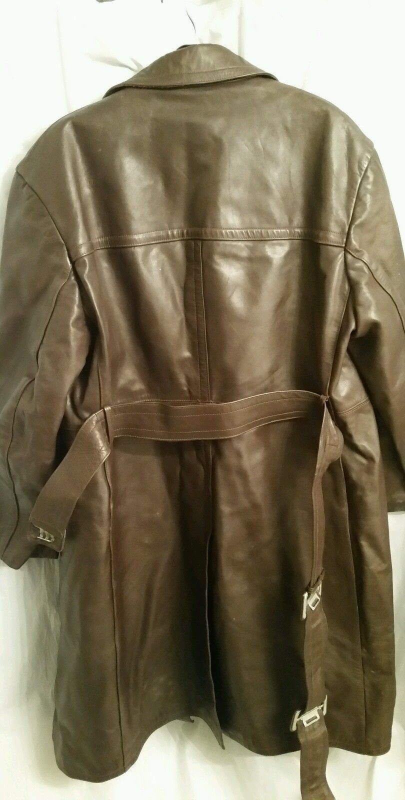 1950's German (probably Teichert) brown leather trench coat | The ...