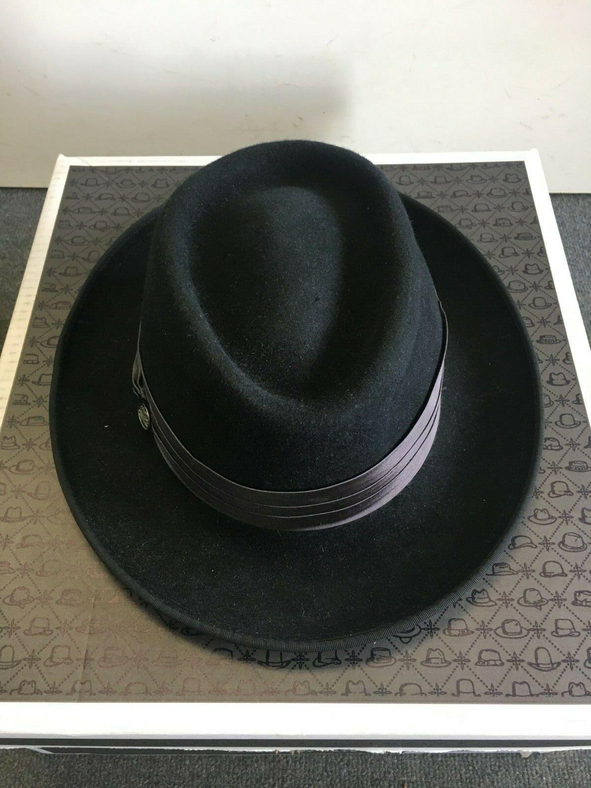 54dc2f491 Stetson Fur Felt Homburg Hat
