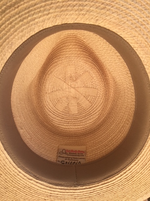 7c3555f6f841 Sunbody tag.JPG UPF 50+. Handwoven in Guatemala  Finished in the USA The Tear  Drop Fedora Hat ...