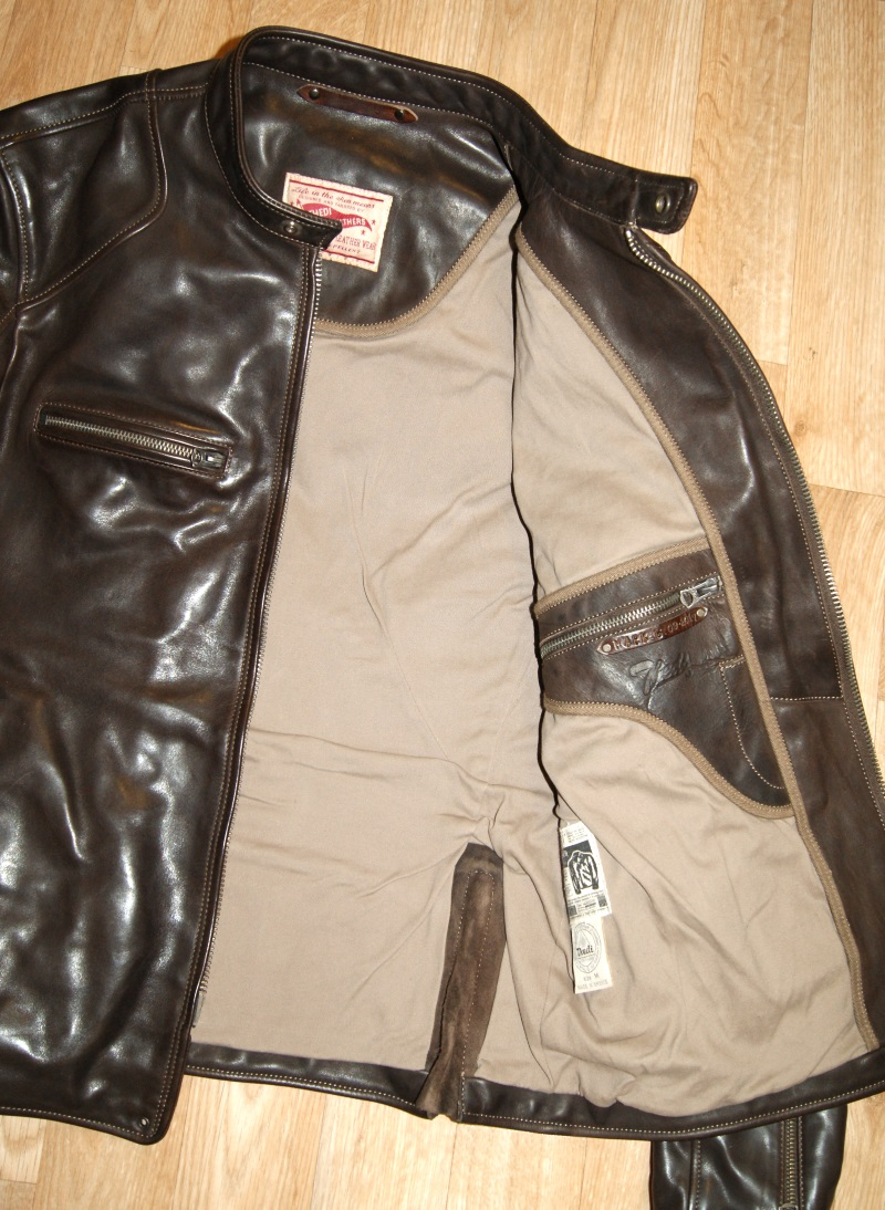 Thedi Cafe Racer Brown Cowhide tan cotton lining.jpg