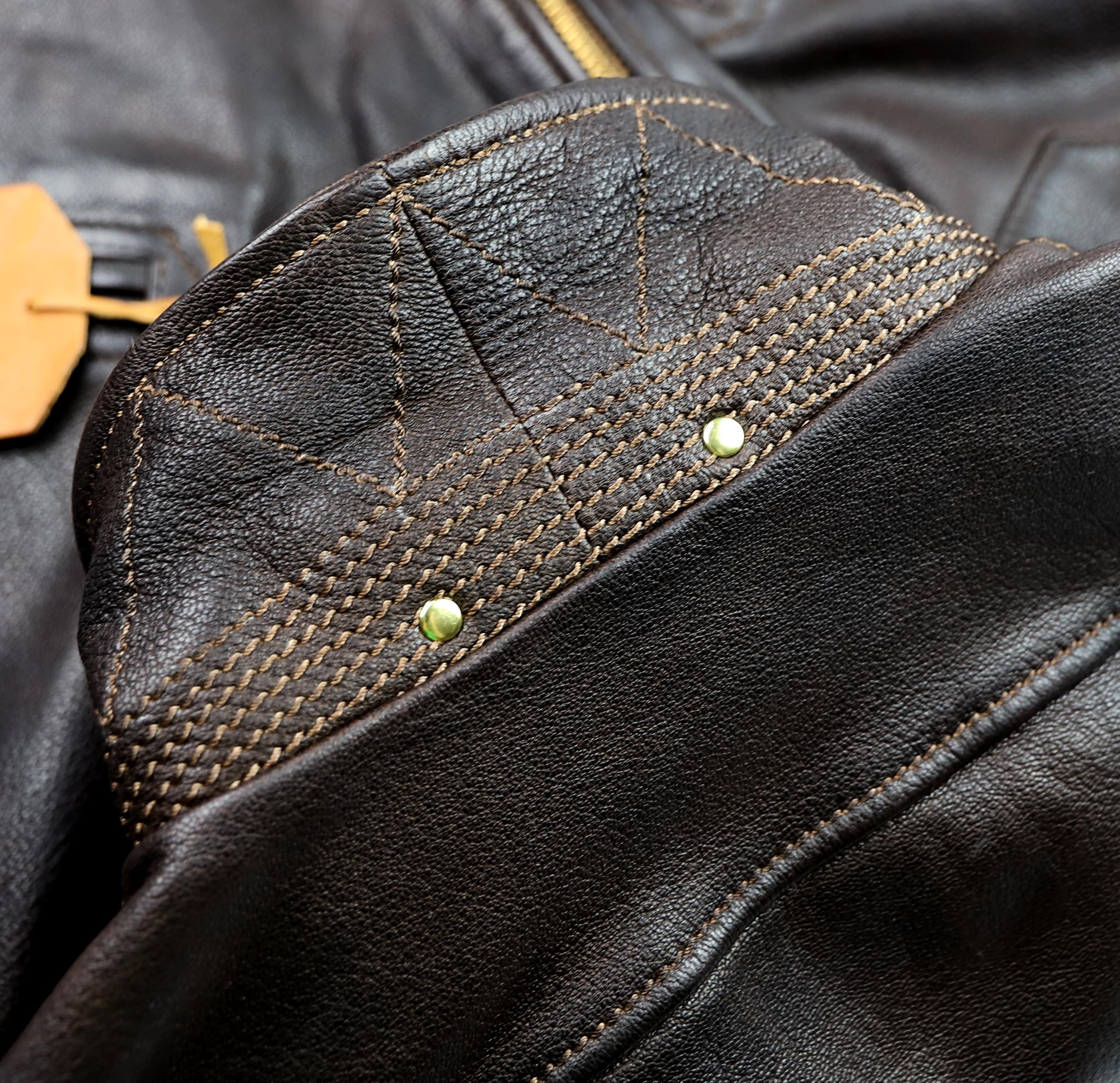 Thedi Evander Crosszip Half Belt Brown Goatskin MWC collar stitching.jpg