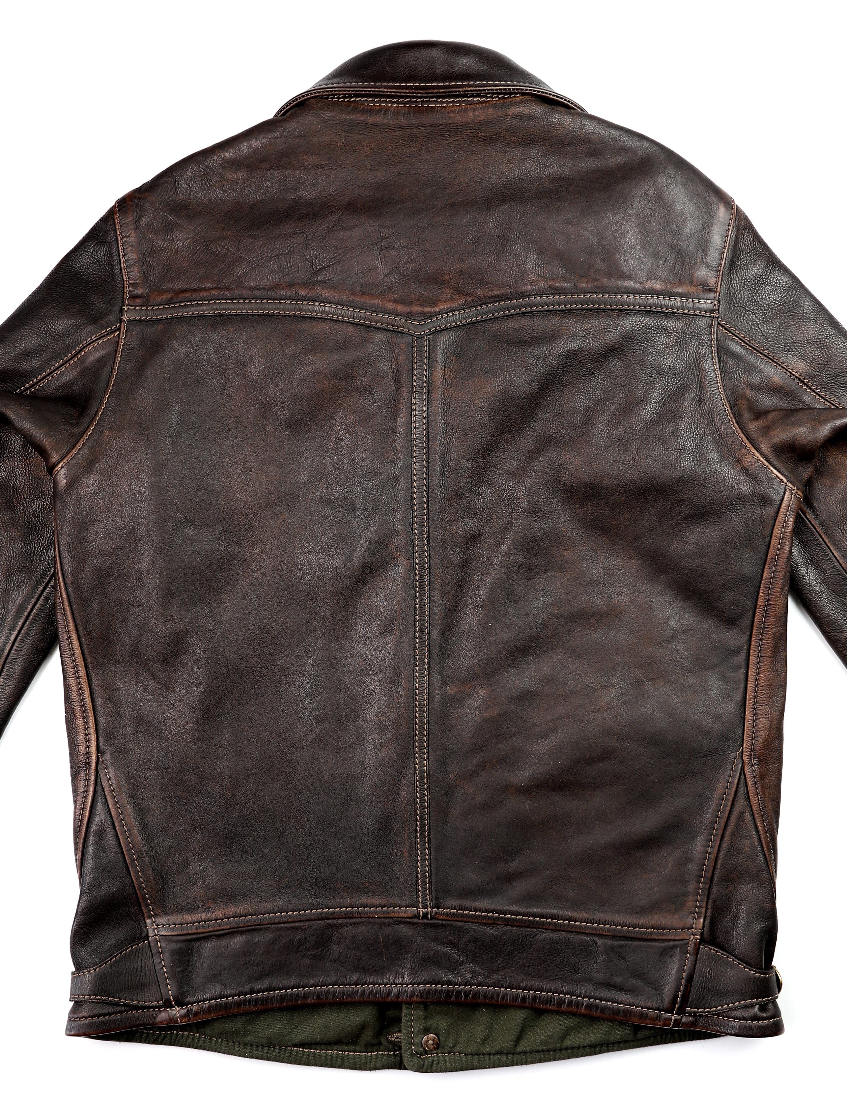 Thedi Niko Button-Up Hand-Dyed Brown Cowhide JG1 back.jpg