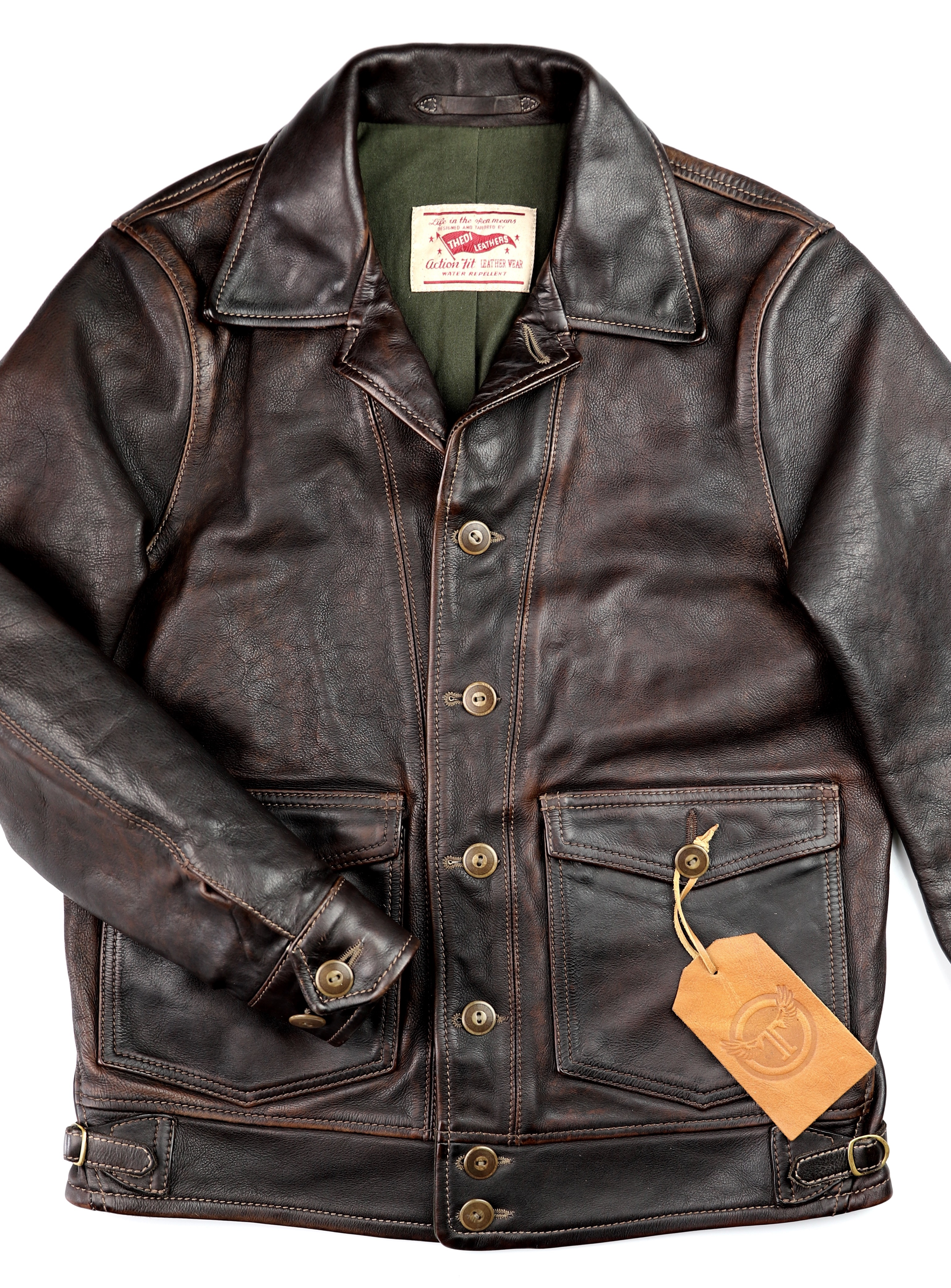 Thedi Niko Button-Up Hand-Dyed Brown Cowhide JG1 front.jpg